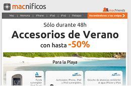 Descuentos en accesorios de hasta el 50% en Macnificos