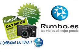 Cámara digital Olympus gratis en reservas de viaje con Rumbo