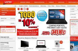 10% de descuento directo en todos los productos de la web de Worten