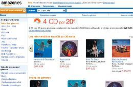 Vale promocional en Amazon para conseguir 4 CD's de música por 20€