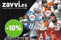 Código promocional para Zavvi.es con un 10% de descuento en juegos de deporte americano