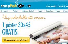 Codigos promocionales para Snapfish con los que tener 1 foto impresa tamaño póster gratis o 5 rebajados