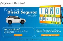 Direct Seguros regala un suministro de gasolina gratis durante un año