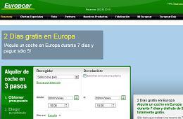 Europcar regala 2 días gratis en el alquiler de coche, alquila 7 días y paga sólo 5