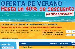 Ofertas en alojamiento con descuentos de hasta el 40% en HostelBookers