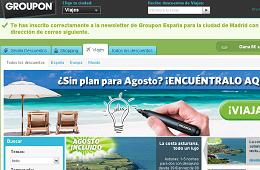 Outlet de viajes de Groupon