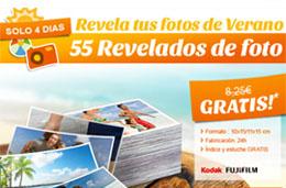 Codigo promocional en Photobox para tener 55 revelados de fotos gratis