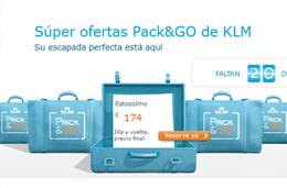 Super ofertas Pack&GO de KLM con vuelos ida/vuelta rebajados por tiempo limitado