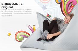 Puff BigBoy XXL con varios colores rebajado un 70% y por 39€ en lugar de 129€