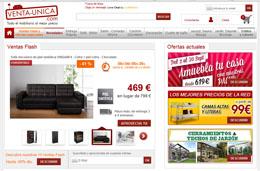 Codigos descuento de Venta-Única para tener -10€ ó -50€ en toda su tienda online de muebles y decoración