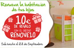 Código promocional de EurekaKids para tener -10€ de regalo para renovar la habitación de tus hijos