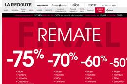 Código descuento de La Redoute para tener un -10% extra en su remate final de hasta el -75%