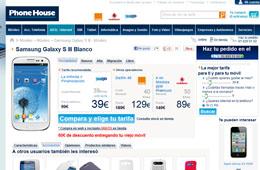 Samsung Galaxy SIII con descuento directo de 80€ y -20% en otros smartphones en The Phone House