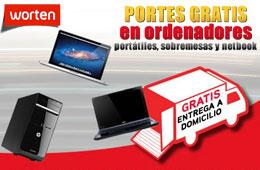 Gastos de envío gratis en Worten con ordenadores portátiles, sobremesa y netbooks