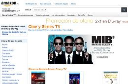 Codigo descuento de Amazon España 2x1 en cine Blu-Ray