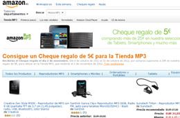 Cupon regalo de Amazon de 5€ para su tienda MP3 comprando más de 25€ en una selección de tablets, smartphones y mucho más