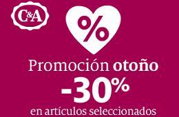 Ofertas en C&A con su Promoción de Otoño y descuentos del -30% en artículos seleccionados