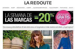 Cupon promocional en La Redoute, gastos envio gratis