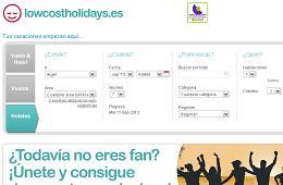 Cupon descuento LowCostHolidays 20€ de descuento