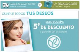 Codigo promocional en Yves Rocher para tener -5€ en cualquier compra superior a 25€