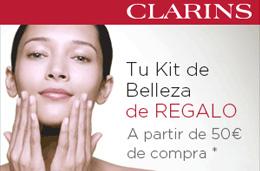 Cupón descuento de Clarins para tener un kit de belleza de regalo valorado en 28€