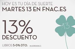 Promociones en Fnac con descuento del 13% para socios sólo para hoy