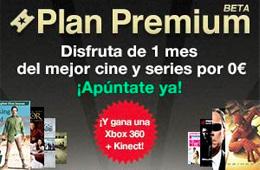 Plan Premium de Wuaki.TV gratis durante 1 mes sin compromiso y con el sorteo de una Xbox360 con Kinect