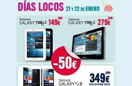Nuevos Días Locos en The Phone House con rebajas en tablets Samsung Galaxy Tab2 y el móvil Galaxy SII