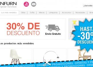 Promo de Infurn con un 30% descuento apra nuevos clientes y envios gratis
