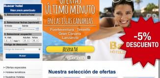 Codigo descuento de Barceló Hoteles para tener un -5% en todos sus hoteles y acumulable a otras ofertas