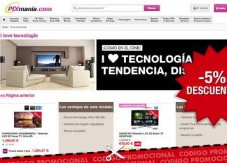 Nuevo codigo promocional de Pixmania de un 5% de descuento en TV, Video y Home Cinema