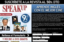 Suscripción a la revista SpeakUp con un 50% de descuento cada mes