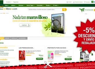 Código promocional de Casa del Libro con un -5% de descuento y 3.95€ en gastos de envío