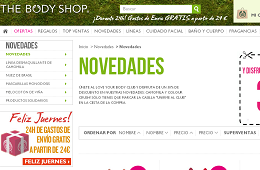 Rebajas y promociones de The Body Shop