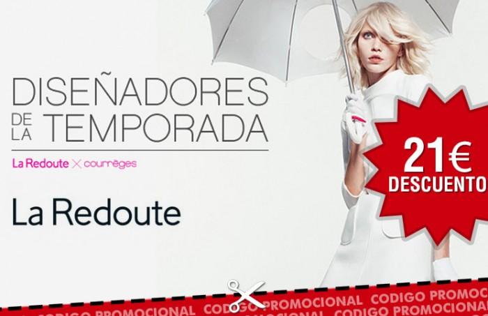 Codigo promocional en La Redoute con 21€ de descuento y envios gratis por su 21º aniversario