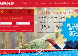 Super ofertas de vuelos desde 35€ precio final en el 1.000.000 de plazas de Iberia por tiempo limitado