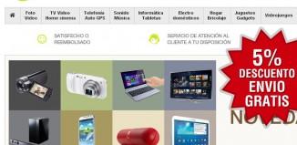 Codigo promocional de Pixmania con un 5% de descuento en toda la web y envío gratis