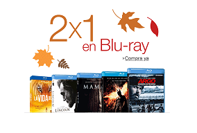 2x1 en películas en Blu-Ray en Amazon
