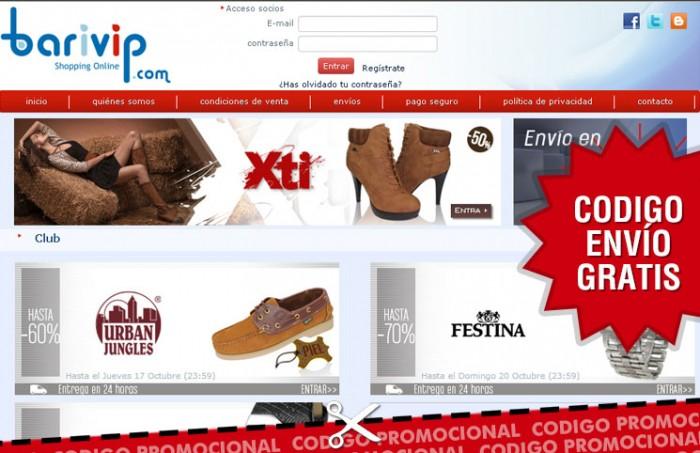Cupon promocional de Barivip con envios gratis