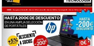 Descuentos de hasta 200€, envíos gratis y 5% habitual de socios de Fnac en portátiles de HP