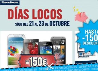 Días Locos de Phone House con -150€ en smartphone libres