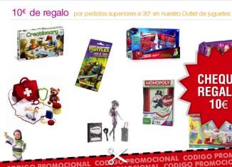 Cheque regalo de 10€ por la compra de 30€ de juguetes en Amazon