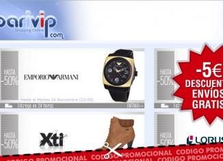 Vales descuento de Barivip para tener 5€ de descuento o envíos gratis