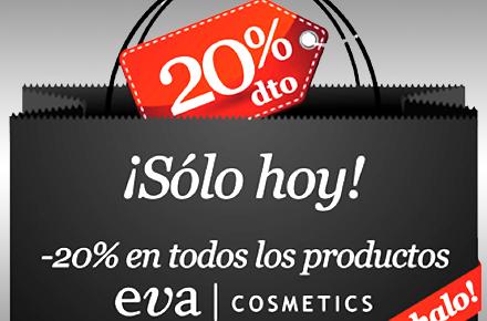 20% de descuento en Eva Cosmetics durante el Black Friday