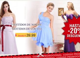 Codigos descuento en la tienda Vestidos de fiesta con ahorros en vestidos, bodas, navidad, lenceria