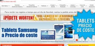 Tablets Samsung a precio de coste en Worten