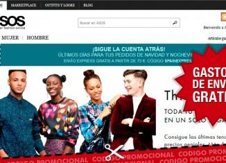 Codigo descuento en Asos para tener gastos de envío gratis en su tienda de moda online
