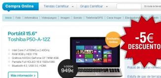Cupon descuento para la tienda online de Carrefour con un ahorro de 5€