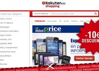 Codigo descuento de Rakuten con un ahorro de 10€