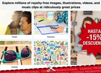 Códigos promocionales de iStockPhoto con descuentos del 8% y 12% en la compra de créditos y 15%